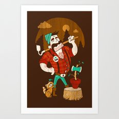 Green Thumberjack Art Print