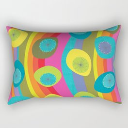 Groovy Retro Waves Rectangular Pillow
