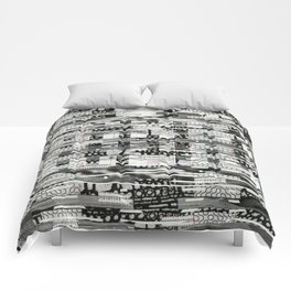 The System Affects The Information That Flows Through It (P/D3 Glitch Collage Studies) Comforters