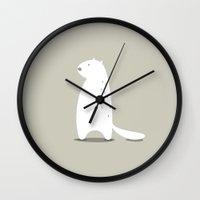 beaver Wall Clocks featuring BEAVER by Seokhyun Shim