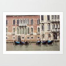 boat parking::venice, italy Art Print