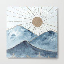Indigo & gold landscape 1 Metal Print