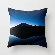 Mt Rainier @ Sunset Throw Pillow