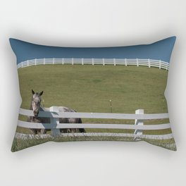 Horse in the Palouse Rectangular Pillow