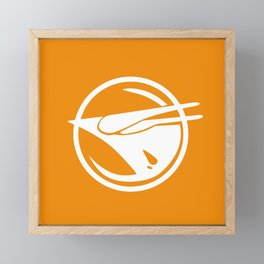 Rebel Phoenix orange Framed Mini Art Print