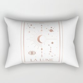 La Lune or The Moon White Edition Rectangular Pillow