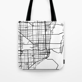 MIAMI FLORIDA BLACK CITY STREET MAP ART Tote Bag