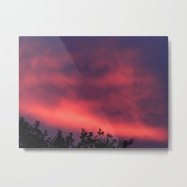 Sunset - Pink Metal Print