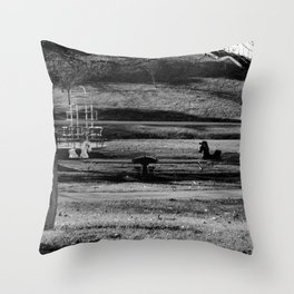 Once Upon A Playground Throw Pillow