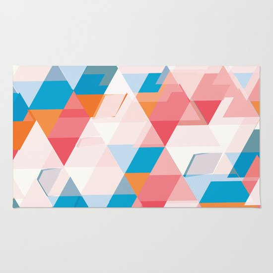 Crumbling triangles Rug