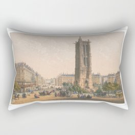 Paris art print Paris Decor office decoration vintage decor TOUR SAINT JACQUES of Paris Rectangular Pillow