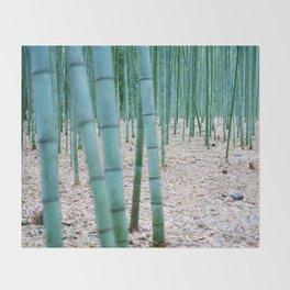 The Bamboo Grove, Arashiyama, Kyoto Throw Blanket
