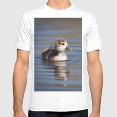 Duckling on the pond MEDIUM Mens Fitted Tee White