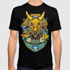 Golden Tricerapod Mens Fitted Tee MEDIUM Black