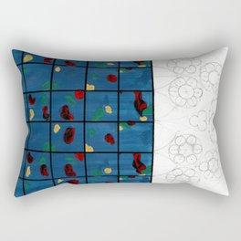 Blue Glass Rectangular Pillow