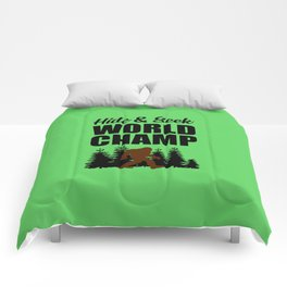 Hide and seek world champ funny quote Comforters