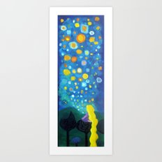 Looking From a window Art Print