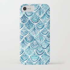NAVY LIKE A MERMAID Fish Scales Watercolor Slim Case iPhone 7