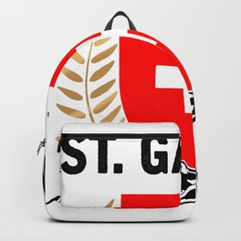 St. Gallen Swiss Flag TShirt Swiss Alps Shirt Switzerland Gift Idea  Backpack