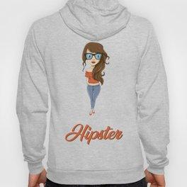 Hipster Girl Hoody