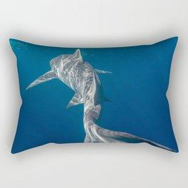 Peaceful Lemon Shark Rectangular Pillow