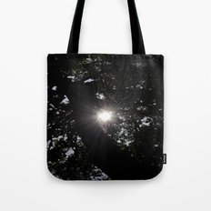Light in the forest # Tote Bag