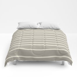 Dover White 33-6 Hand Drawn Horizontal Lines on Ever Classic Gray 32-24 Comforters
