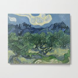 Vincent van Gogh - Olive Trees in a Mountainous Landscape Metal Print