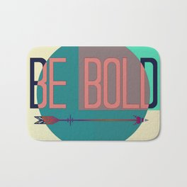 """Be Bold"" Pastel Block Abstract Badematte"