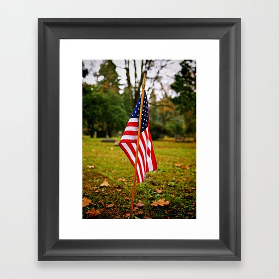 American symbolism Framed Art Print