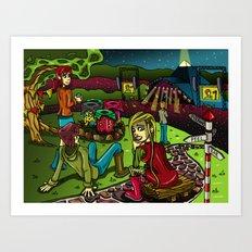 Glastonbury 2013 Art Print