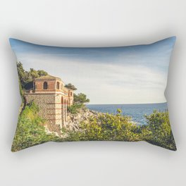 Seacoast of Cap Martin in a sunny winter day Rectangular Pillow