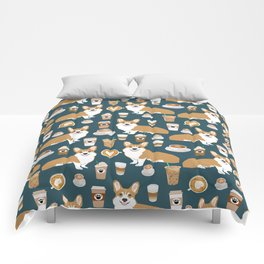 Corgi coffee welsh corgis dog breed pet lovers blue corgi crew pet lovers Comforters