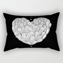 Swirlies in black Rectangular Pillow