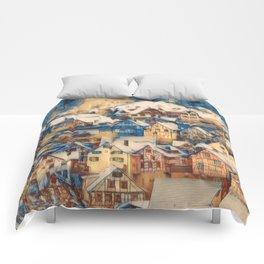 Rustic Winter Scene B Comforters
