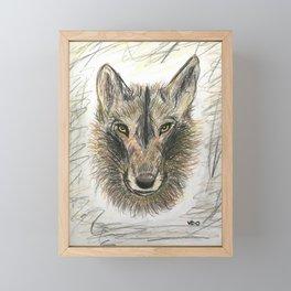 The Felix wolf Framed Mini Art Print