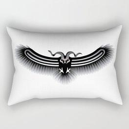 Horned Owl on the Hunt Rectangular Pillow