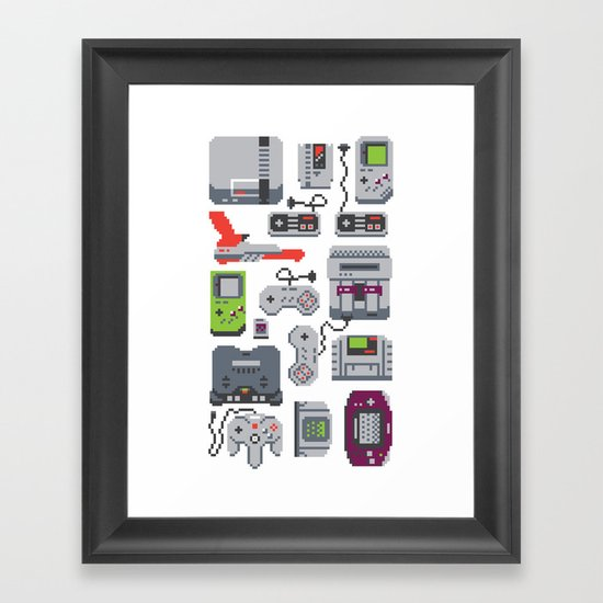 A Pixel of my Childhood Framed Art Print
