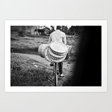 headed to market::uganda Art Print