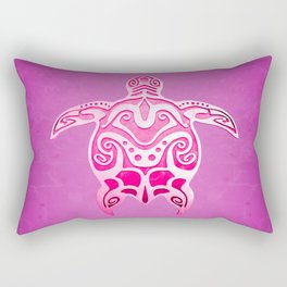 Pink Tribal Turtle Rectangular Pillow