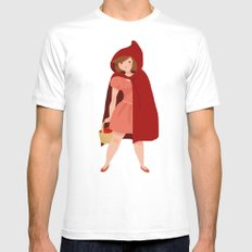 Little Red Riding Hood Mens Fitted Tee White MEDIUM