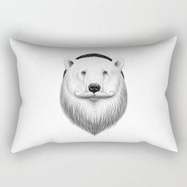 bearded white bear Rectangular Pillow