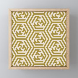 Yellow Sage Moroccan Geometric Pattern Framed Mini Art Print