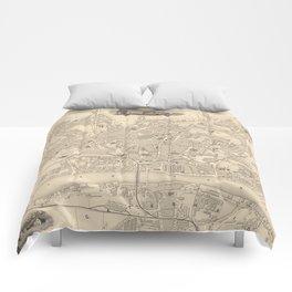 Vintage Map of Newcastle England (1851) Comforters
