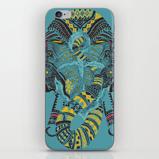 Anchor and Elephant iPhone & iPod Skin