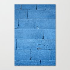 Blue bricks Canvas Print