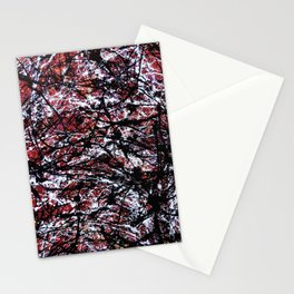 """Number 6"" Abstract Painting by Mark Compton Stationery Cards"