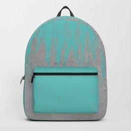 Concrete Fringe Turquoise Backpack