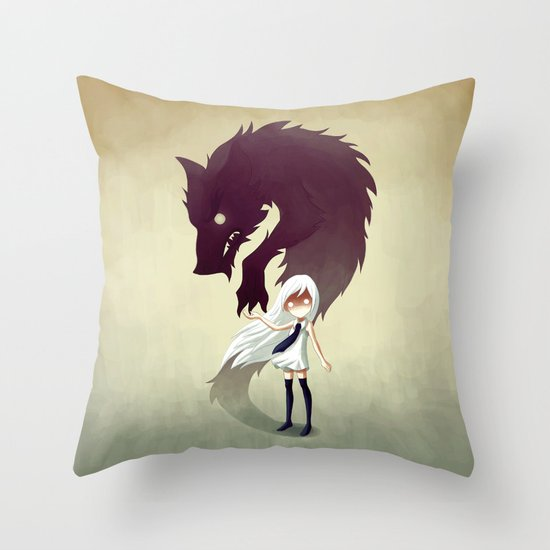 Werewolf Throw Pillow