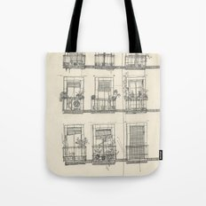 View from the balcony Tote Bag